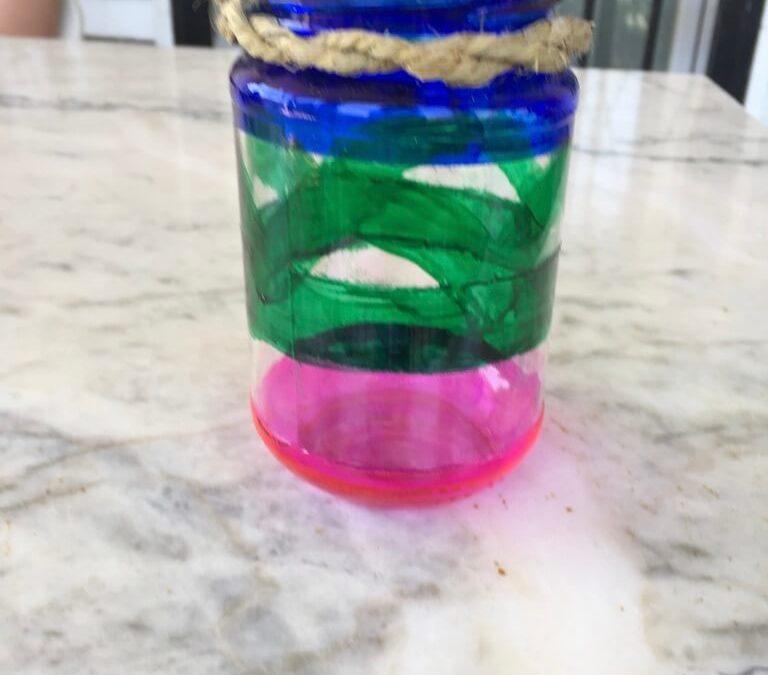 Reciclando vidrio III.- Cubilete