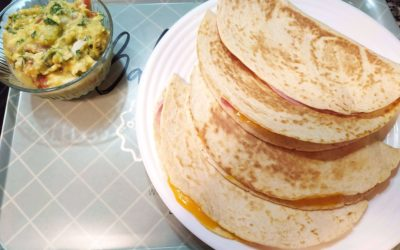 Quesadillas de jamón y queso